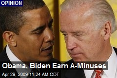 Obama, Biden Earn A-Minuses