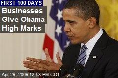 Businesses Give Obama High Marks