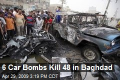 6 Car Bombs Kill 48 in Baghdad