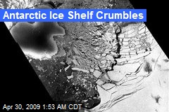 Antarctic Ice Shelf Crumbles