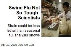 Swine Flu Not So Tough: Scientists