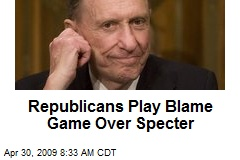 Republicans Play Blame Game Over Specter