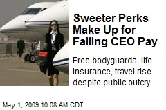 Sweeter Perks Make Up for Falling CEO Pay