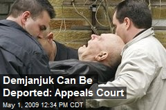 Demjanjuk Can Be Deported: Appeals Court