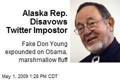 Alaska Rep. Disavows Twitter Impostor