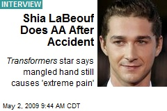 Shia LaBeouf Does AA After Accident