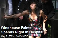Winehouse Faints, Spends Night in Hospital