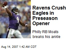 Ravens Crush Eagles in Preseason Opener
