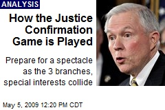How the Justice Confirmation Game is Played