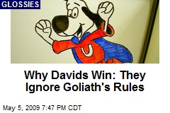 Why Davids Win: They Ignore Goliath's Rules