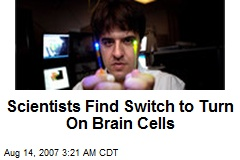 Scientists Find Switch to Turn On Brain Cells