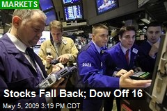 Stocks Fall Back; Dow Off 16