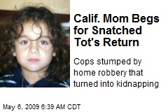 Calif. Mom Begs for Snatched Tot's Return