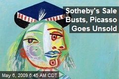 Sotheby's Sale Busts, Picasso Goes Unsold