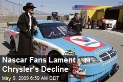 Nascar Fans Lament Chrysler's Decline