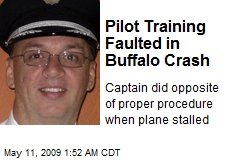 Pilot Training Faulted in Buffalo Crash