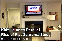 Kids' Injuries Parallel Rise of Flat Screens: Study