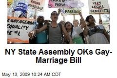 NY State Assembly OKs Gay-Marriage Bill