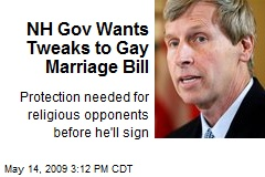 NH Gov Wants Tweaks to Gay Marriage Bill