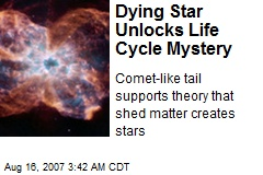 Dying Star Unlocks Life Cycle Mystery