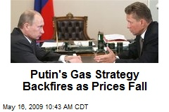 Putin's Gas Strategy Backfires as Prices Fall