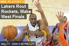 Lakers Rout Rockets, Make West Finals