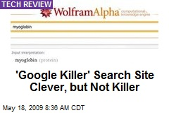 'Google Killer' Search Site Clever, but Not Killer