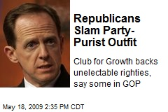 Republicans Slam Party-Purist Outfit