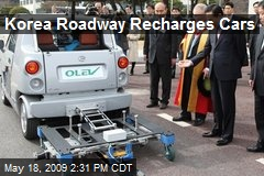 Korea Roadway Recharges Cars