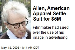 Allen, American Apparel Settle Suit for $5M