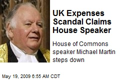UK Expenses Scandal Claims House Speaker