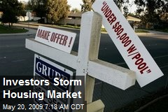Investors Storm Housing Market