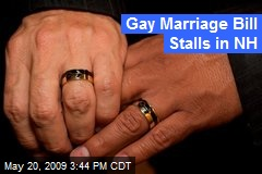 Gay Marriage Bill Stalls in NH