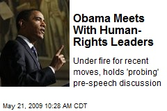 Obama Meets With Human- Rights Leaders