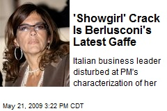 'Showgirl' Crack Is Berlusconi's Latest Gaffe