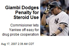 Giambi Dodges Penalty for Steroid Use