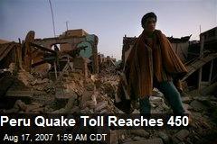Peru Quake Toll Reaches 450