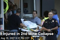 9 Injured in 2nd Mine Collapse