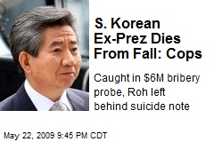 S. Korean Ex-Prez Dies From Fall: Cops