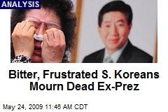 Bitter, Frustrated S. Koreans Mourn Dead Ex-Prez