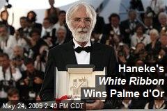 Haneke's White Ribbon Wins Palme d'Or