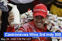 Castroneves Wins 3rd Indy 500