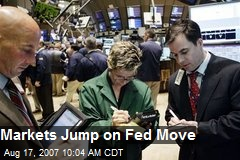 Markets Jump on Fed Move