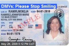 DMVs: Please Stop Smiling