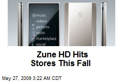 Zune HD Hits Stores This Fall