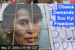 Obama Demands Suu Kyi Freedom