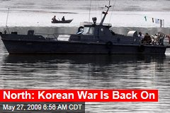 North: Korean War Is Back On