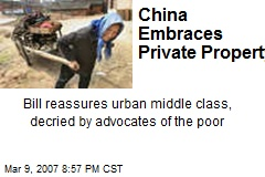 China Embraces Private Property