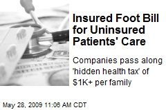 Insured Foot Bill for Uninsured Patients' Care