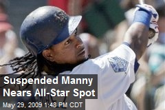 Suspended Manny Nears All-Star Spot
